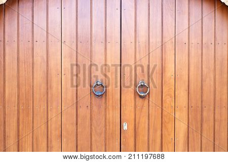 wooden gate close-up background museum brown closeup