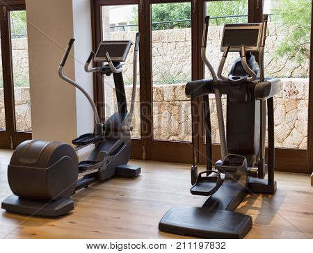 Modern fitness equipment healthy, lifestyle, workout, active