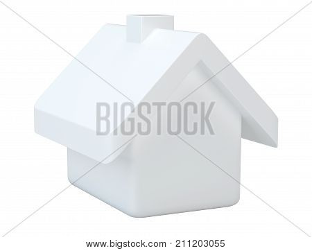 House icon on white background. 3d rendering for web.