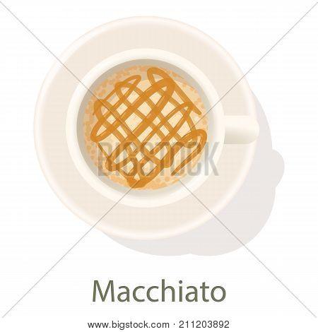 Macchiato icon. Cartoon illustration of macchiato vector icon for web