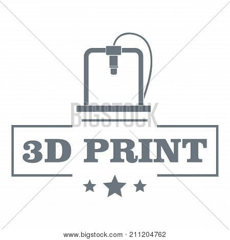 Production 3d printing logo. Simple illustration of production 3d printing vector logo for web