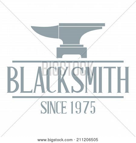 Master blacksmith logo. Simple illustration of master blacksmith vector logo for web