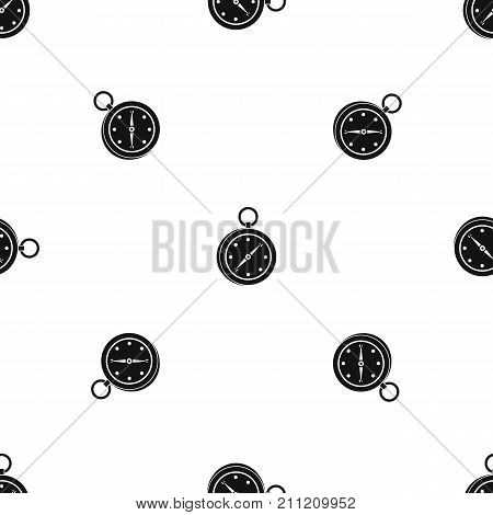 Multifunction knife pattern repeat seamless in black color for any design. Vector geometric illustration