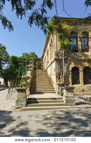 Stairs Of The Museum Building With The Byzantine Exhibition In Chersonesus Tavrichesky