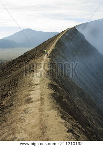 The road around the crater of the volcano Bromo. The island of Java. Indonesia.