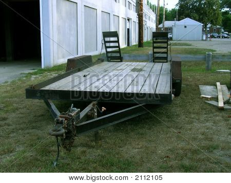 Flatbed Landscaping Equipment Trailer