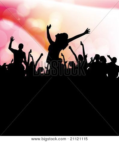 People dancing background party