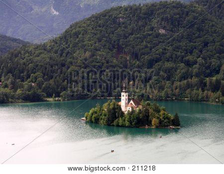 Island Church On Lake Bled