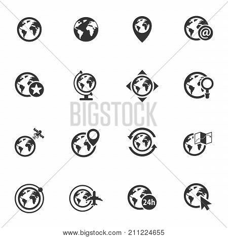globes vector icons for your creative ideas