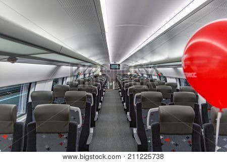 Inside The First In Russia Two-story High-speed Aeroexpress