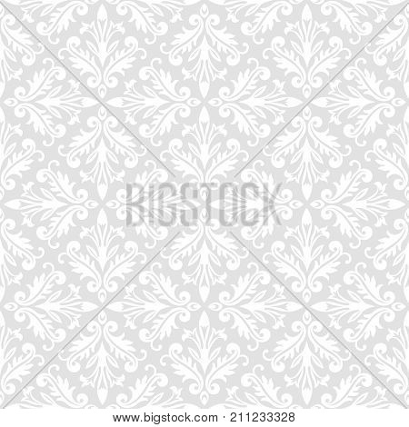 Vector seamless pattern. Luxury baroque texture. Regularly repeating retro ornament. Pattern can be used as a background wallpaper wrapper page fill element of ornate decoration