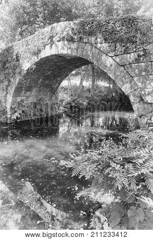 Roman bridge of Rubiaes, Camino de Santiago, Portugal