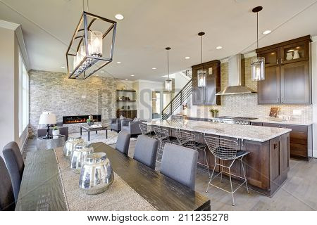 Luxurious New Construction With Open Plan Interior.