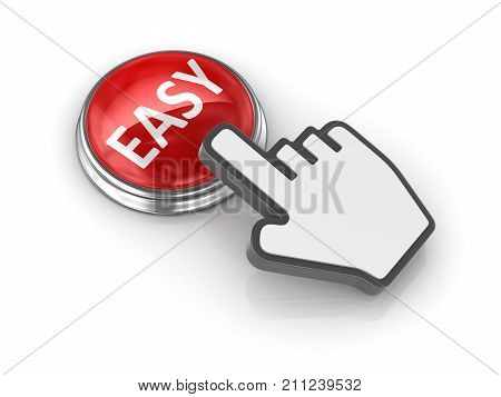 Easy Button With Hand Cursor