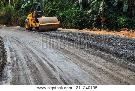 Highway Road Construction In Jungle