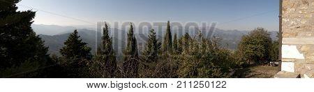 A view over the Ligurian mountains, Liguria, Italy