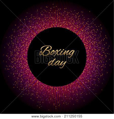 Abstract vector stippling texture background. Sale template. Gold boxing day. Discount lable