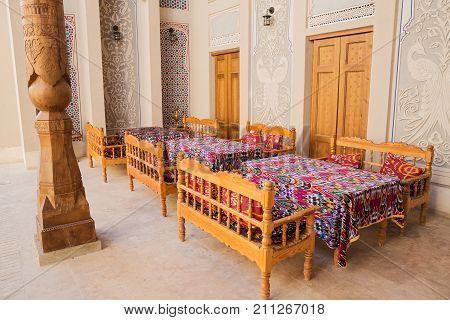 Interior Of Hotel In Bukhara