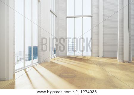 Unfurnished Light Room Interior