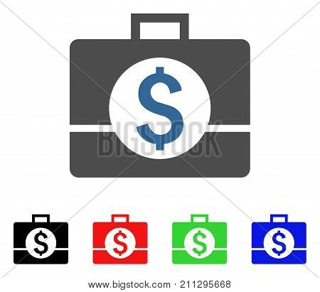 Business Case icon. Vector illustration style is a flat iconic business case symbol with black, red, green, blue color variants. Designed for web and software interfaces.