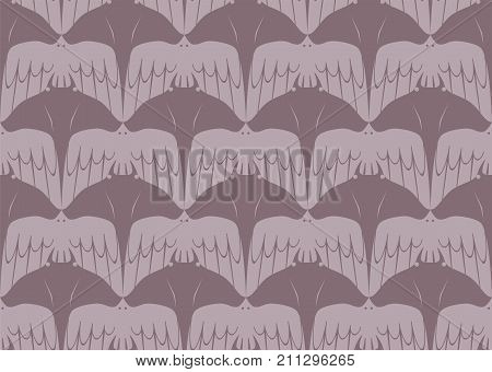 Seamless Tessellation Pattern of Manta Ray and Bird Vector Background