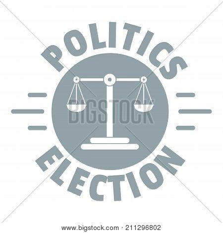 Politics election logo. Simple illustration of politics election vector logo for web