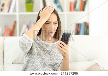 Woman Making Mistake On A Smart Phone