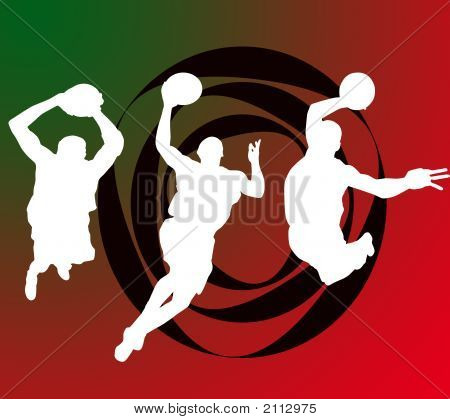 Basketball players high hip hop icons background poster