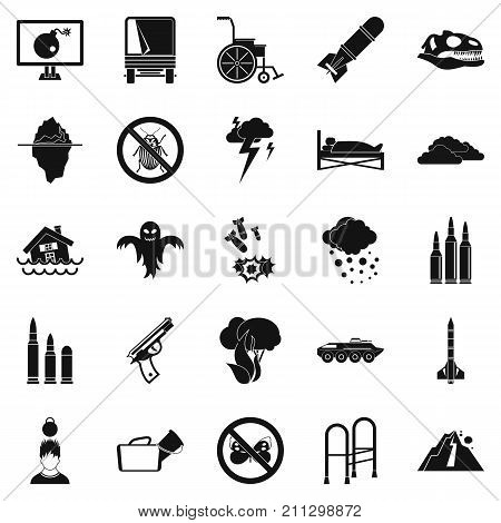 Fright icons set. Simple set of 25 fright vector icons for web isolated on white background