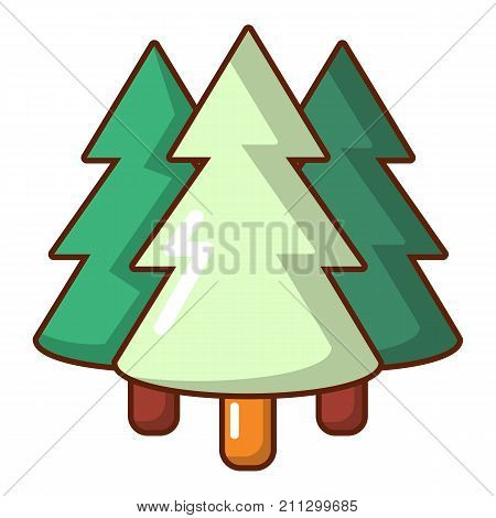 Coniferous forest icon. Cartoon illustration of coniferous forest vector icon for web
