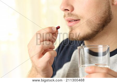 Man Ready To Swallow A Pill