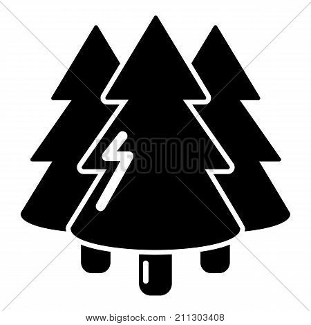 Coniferous forest icon. Simple illustration of coniferous forest vector icon for web
