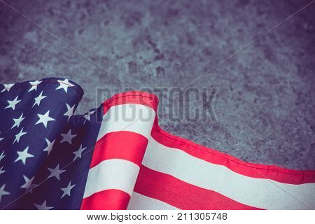 American Flag with background for Memorial Flag Independence Election and Veterans Day