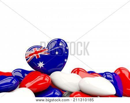 Heart With Flag Of Australia