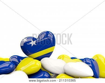 Heart With Flag Of Curacao