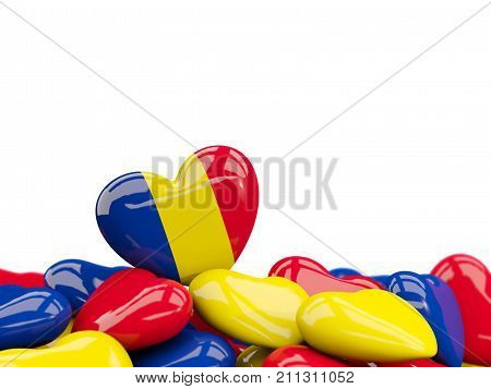Heart With Flag Of Romania