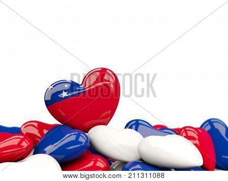 Heart With Flag Of Samoa