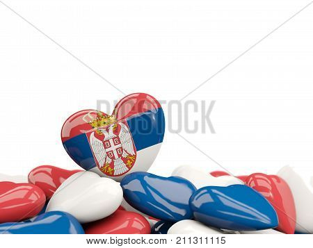 Heart With Flag Of Serbia