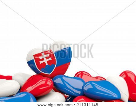 Heart With Flag Of Slovakia