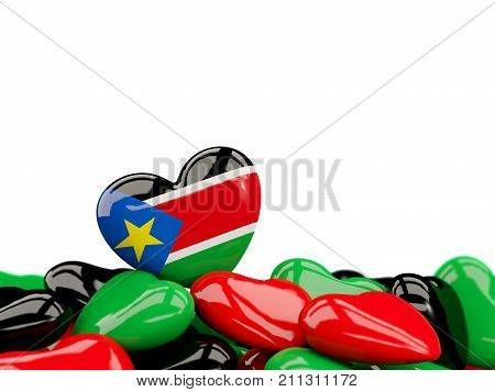 Heart With Flag Of South Sudan
