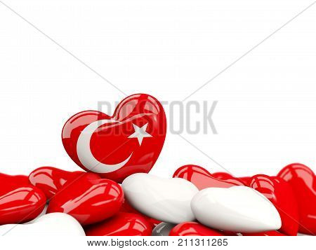 Heart With Flag Of Turkey