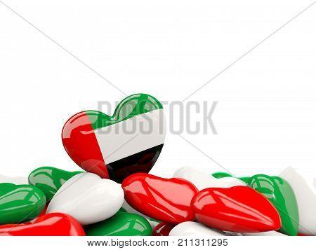 Heart With Flag Of United Arab Emirates