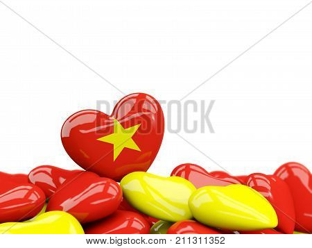 Heart With Flag Of Vietnam