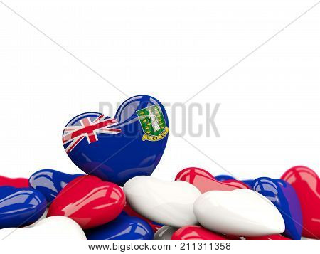 Heart With Flag Of Virgin Islands British
