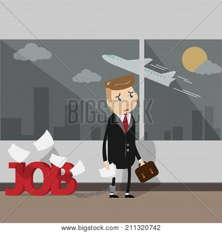 Very busy business person needs a vacation to go on holiday break.   EPS10