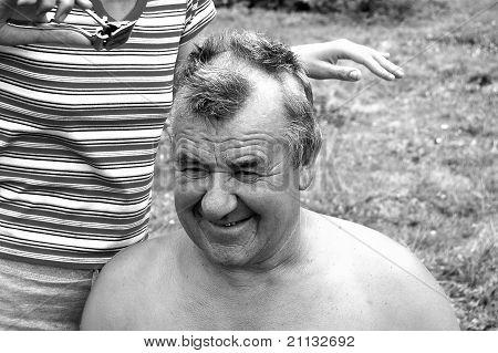 Barbering men