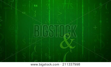 Abstract Falling Signs Illustration
