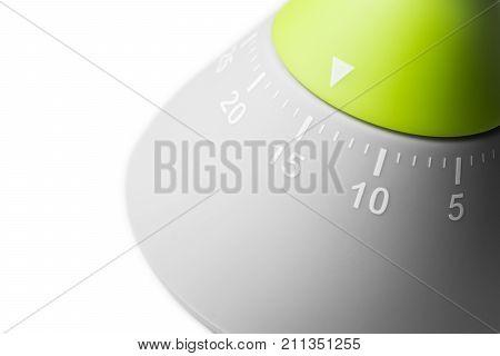 15 Minutes - Analog Kitchen Egg Timer Isolated On White Background
