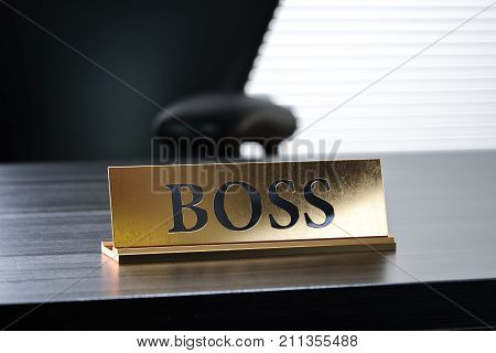 Nameplate With Boss Text
