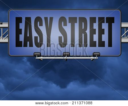 easy street and best way to do things simple and correct no risk and safe 3D, illustration